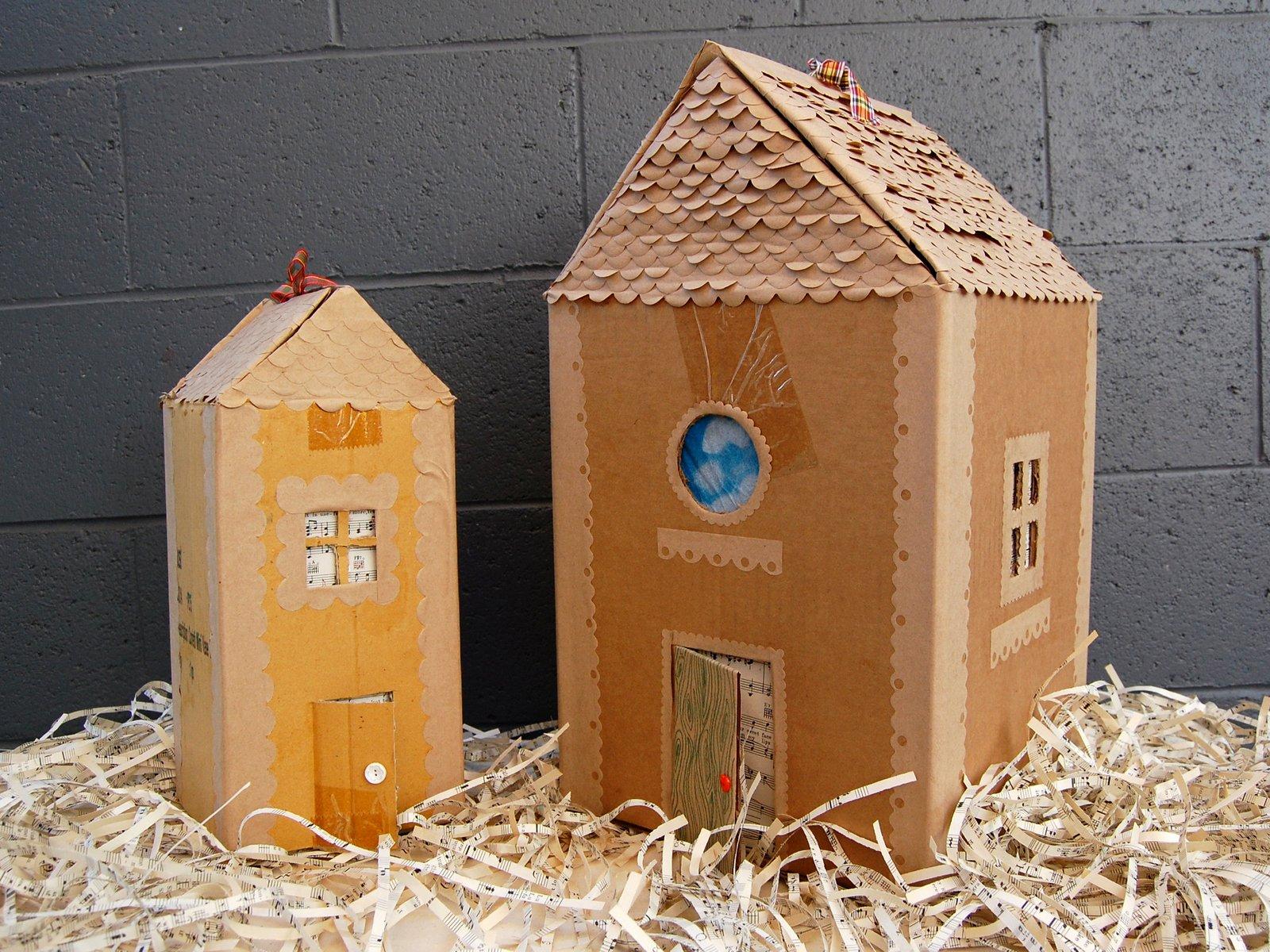 Cardboard Gingerbread House Awesome Cardboard Cuties