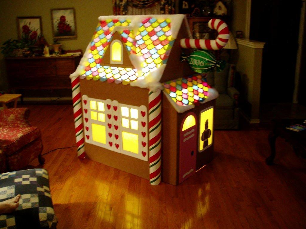 Cardboard Gingerbread House Awesome Make A Gingerbread Playhouse Español