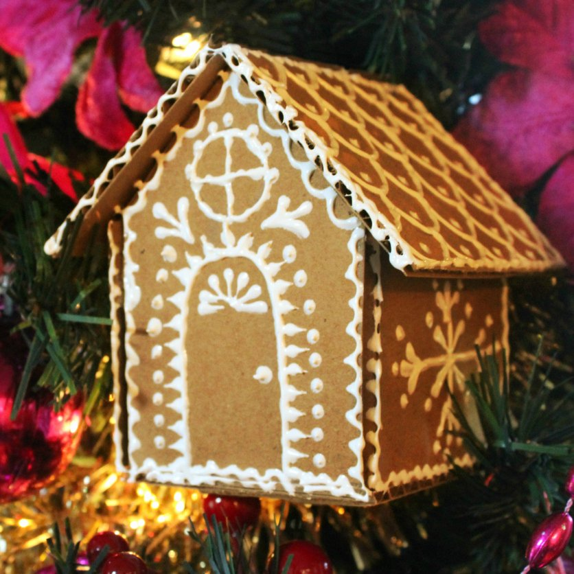 Cardboard Gingerbread House Beautiful Mark Montano Cardboard Gingerbread House ornaments