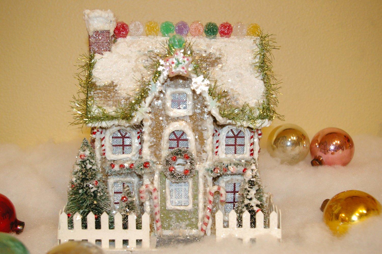 Cardboard Gingerbread House Best Of Paper Mache Gingerbread House by Kariegrogan On Etsy