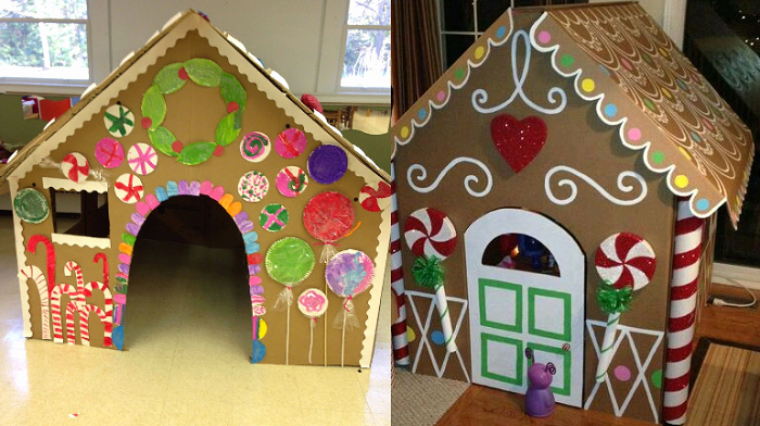 """Cardboard Gingerbread House Best Of Take the """"gingerbread House"""" Up A Notch This Year with"""