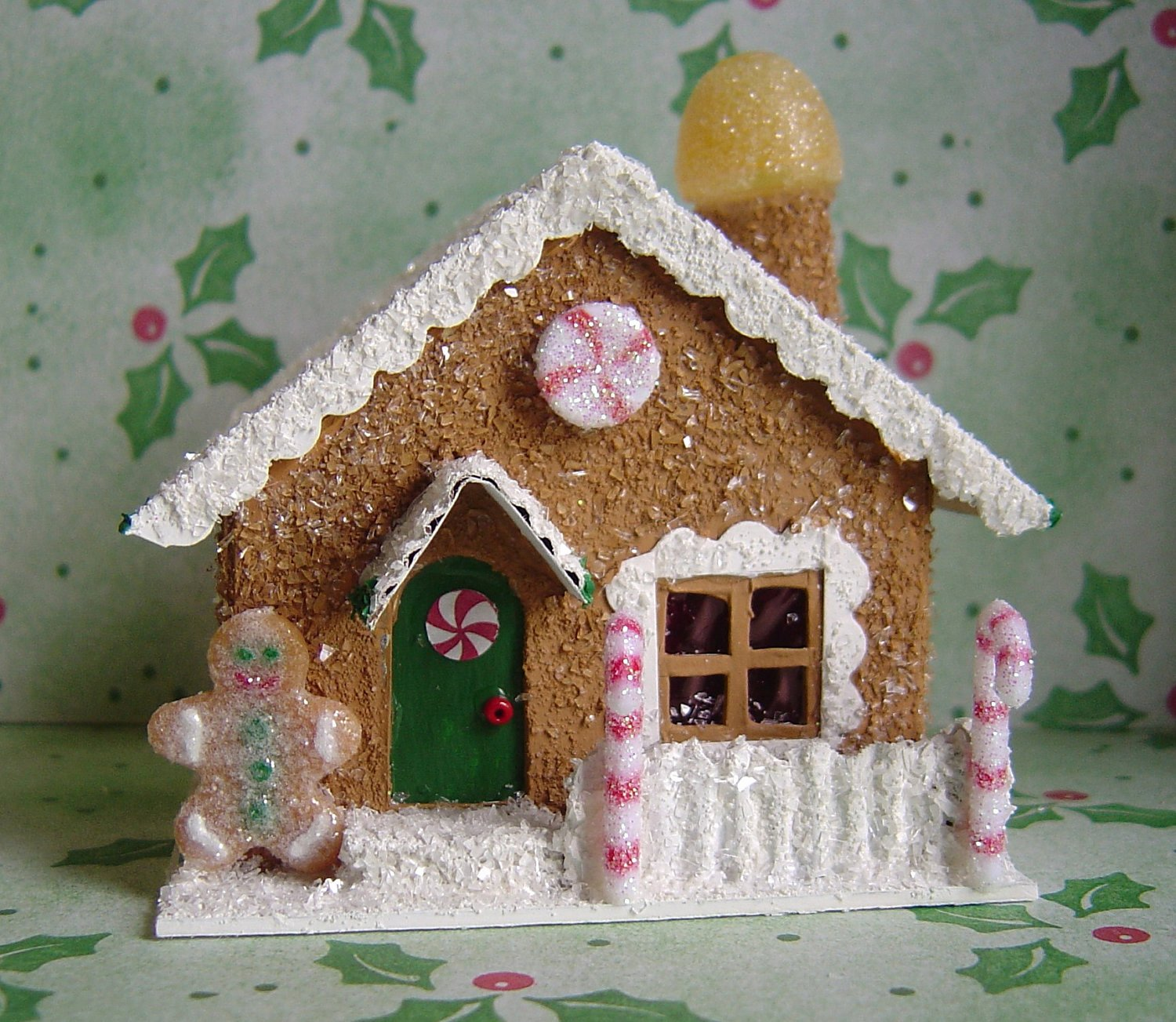 Cardboard Gingerbread House Fresh Christmas Village Paper Putz Style Gingerbread House