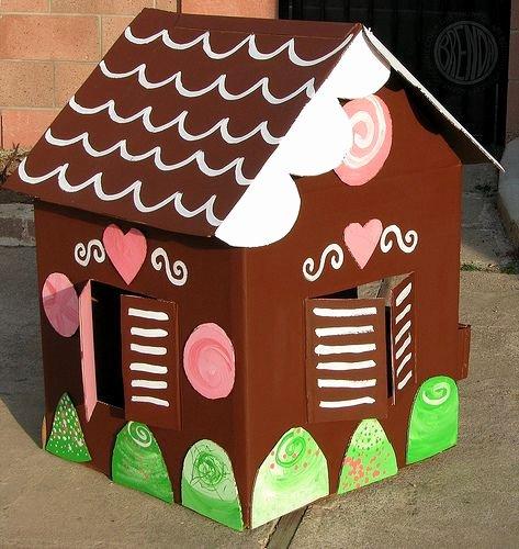 Cardboard Gingerbread House Fresh Kid Size Cardboard Gingerbread House
