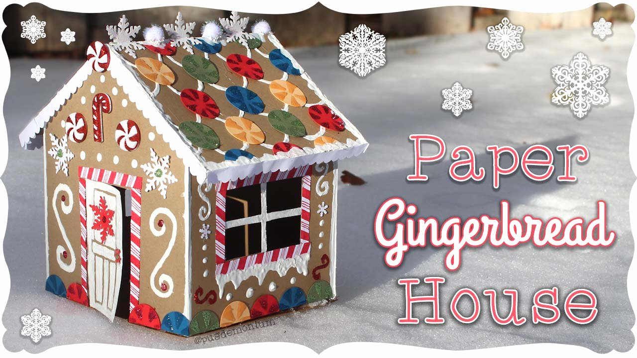 paper gingerbread house tutorial