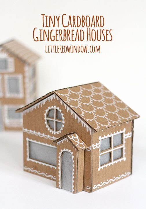 Cardboard Gingerbread House Fresh Tiny Cardboard Gingerbread Houses Christmas