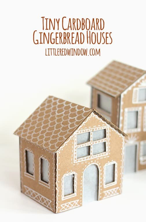Cardboard Gingerbread House Fresh Tiny Cardboard Gingerbread Houses Little Red Window