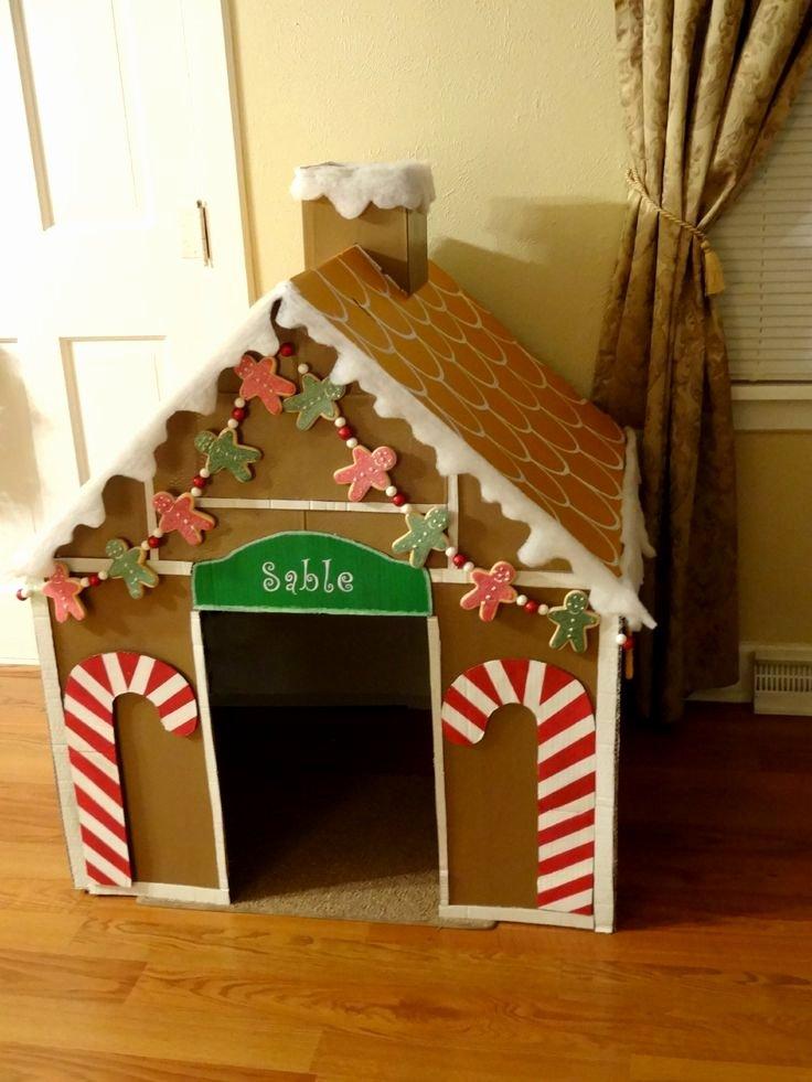 Cardboard Gingerbread House Lovely Diy Gingerbread Dog House with Cardboard