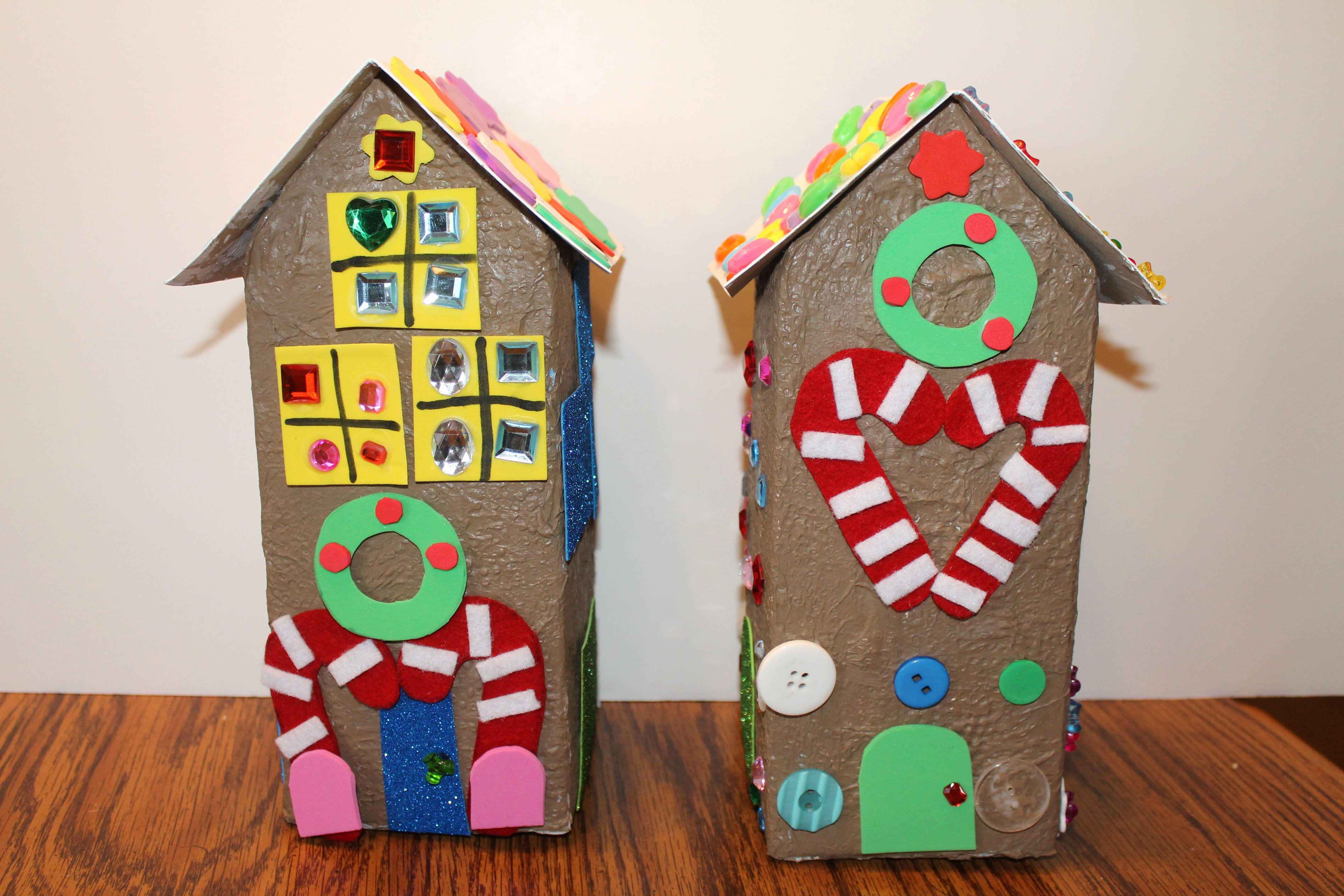Cardboard Gingerbread House New Cardboard Gingerbread House – the Project Place