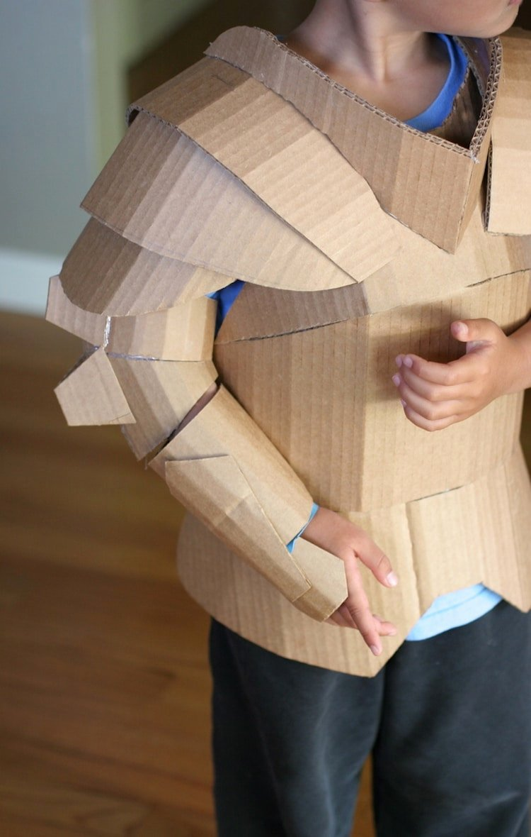 Cardboard Knight Helmet Template Beautiful Fantastical Cardboard Costume Diy Turns Boxes Into Knight