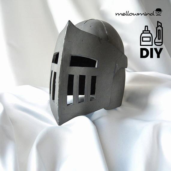 Cardboard Knight Helmet Template Best Of Diy Knight Helmet Template for Eva Foam Version B From