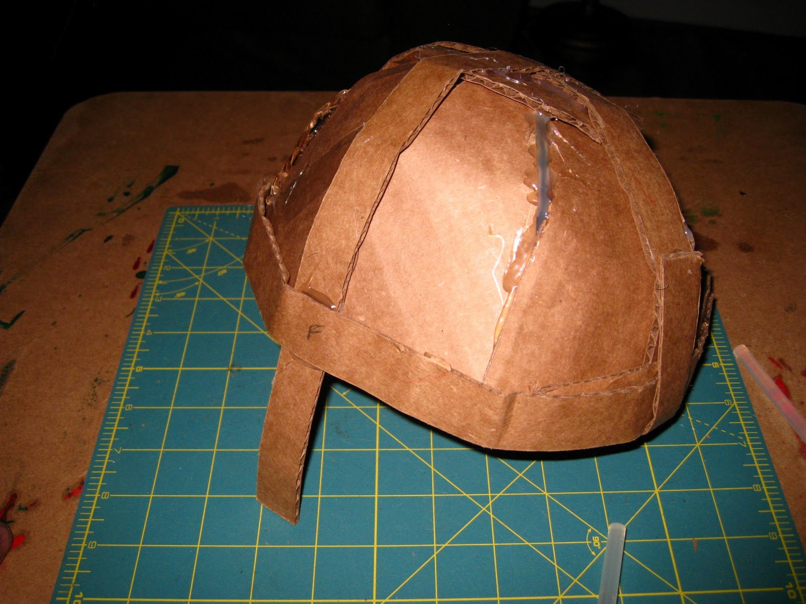 Cardboard Knight Helmet Template Elegant Happily Ever Crafter Diy Building A Me Val Helmet Out