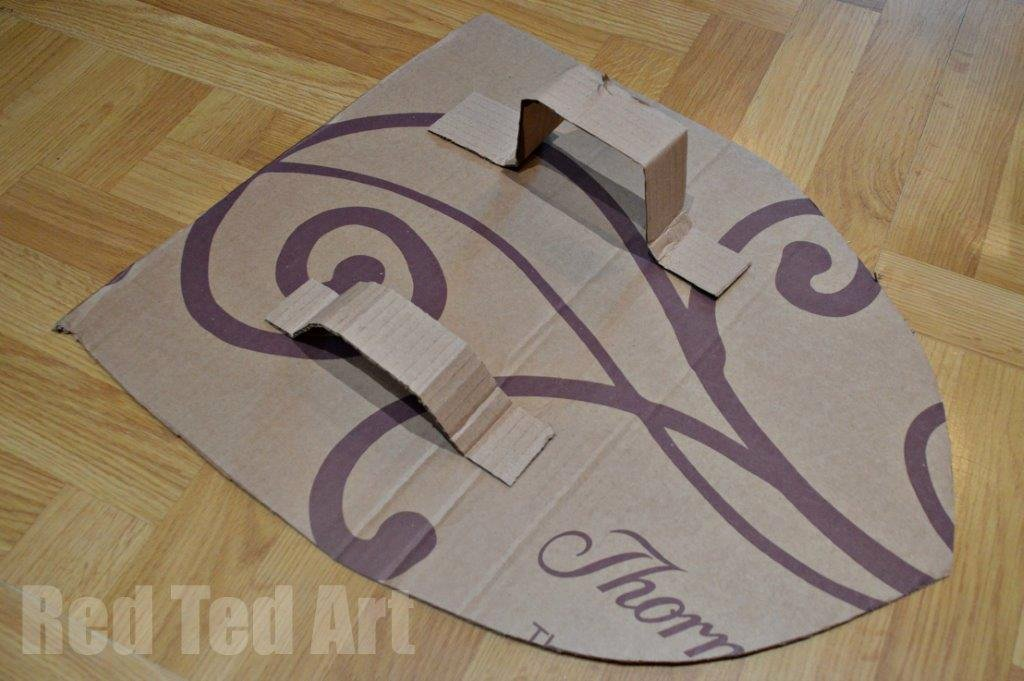 Cardboard Knight Helmet Template Unique How to Make A Knight S Shield Red Ted Art S Blog