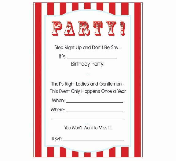 Carnival Invitation Template Free Awesome Pumpkin Petunia Carnival Circus Party Week Free
