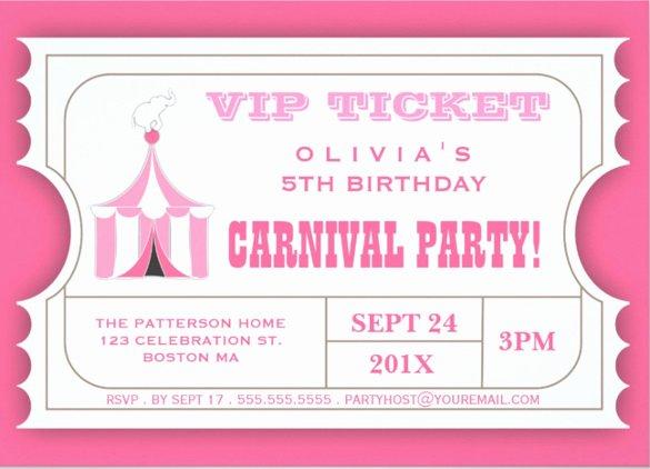 Carnival Invitation Template Free Beautiful 27 Carnival Birthday Invitations Free Psd Vector Eps