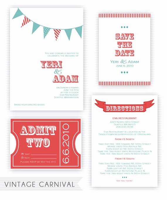 Carnival Invitation Template Free Best Of Items Similar to Printable Vintage Carnival Wedding