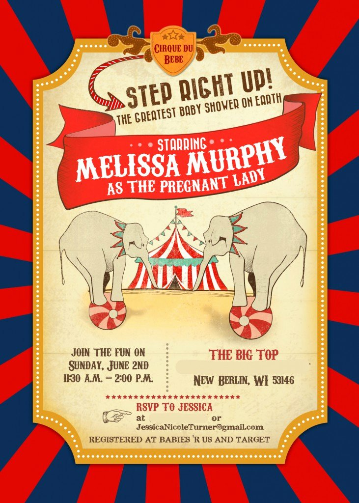 Carnival Invitation Template Free Inspirational Circus Baby Shower – Invitations & Decor Part 1 Of 2