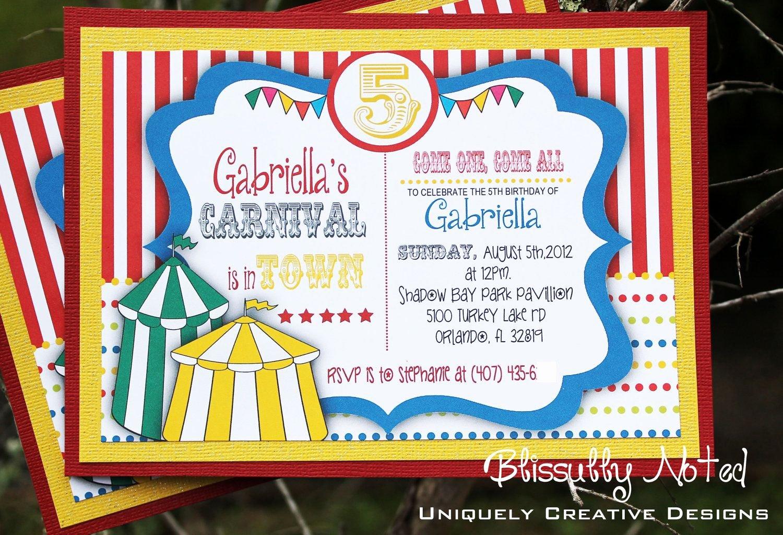 Carnival Invitation Template Free Lovely Circus Invitation Template