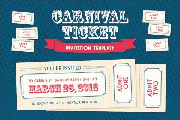 Carnival Ticket Template Best Of 33 Ticket Invitation Templates Psd Eps Ai