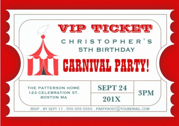 Carnival Ticket Template Best Of 47 Ticket Invitation Templates Psd Ai Word Pages