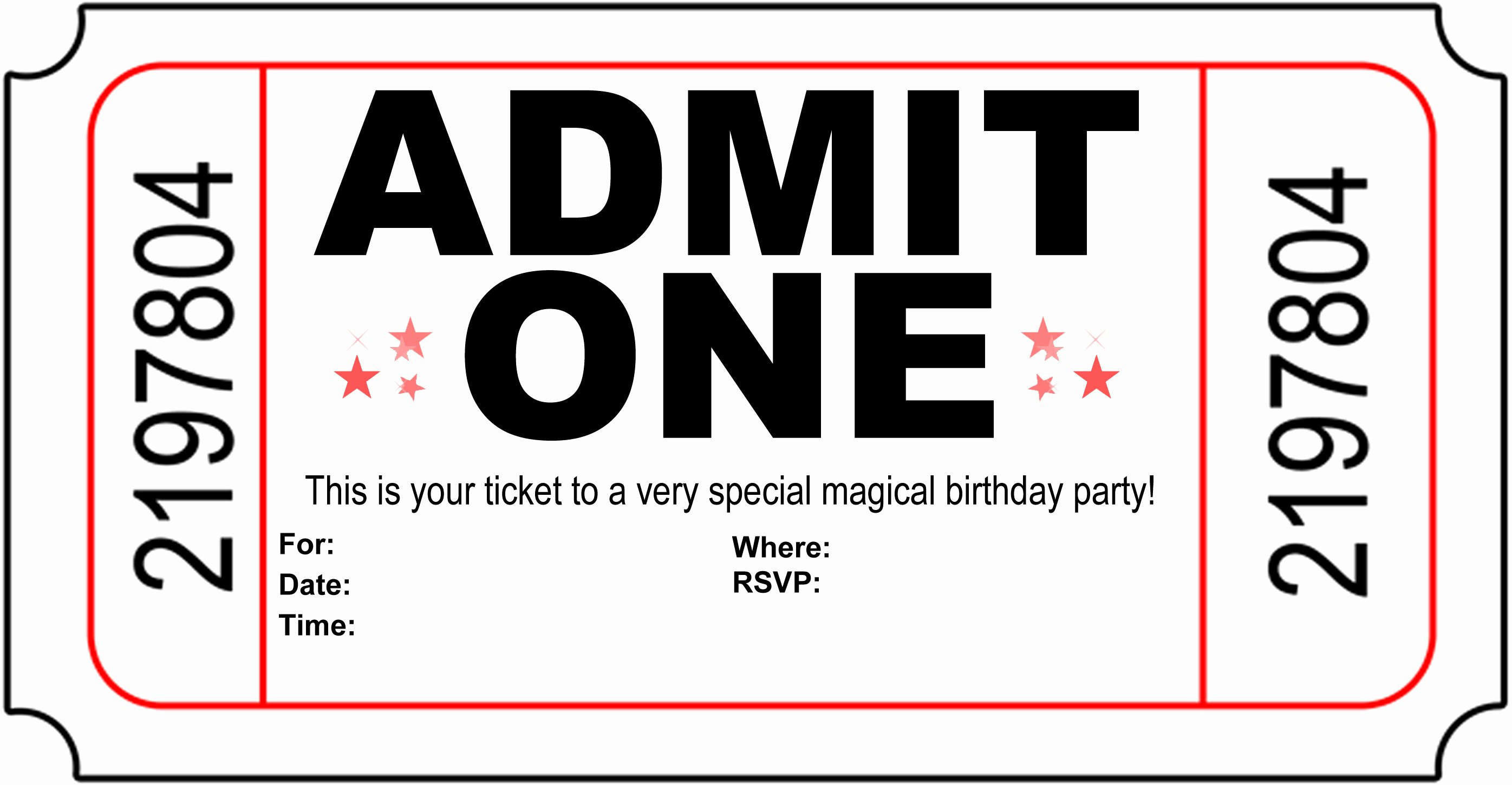 Carnival Ticket Template Best Of Free Carnival Ticket Invitation Template Download Free