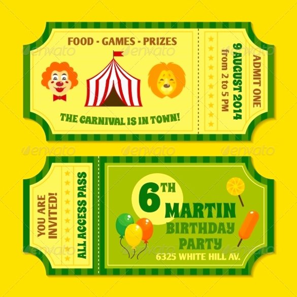 Carnival Ticket Template Elegant 47 Ticket Invitation Templates Psd Ai Word Pages