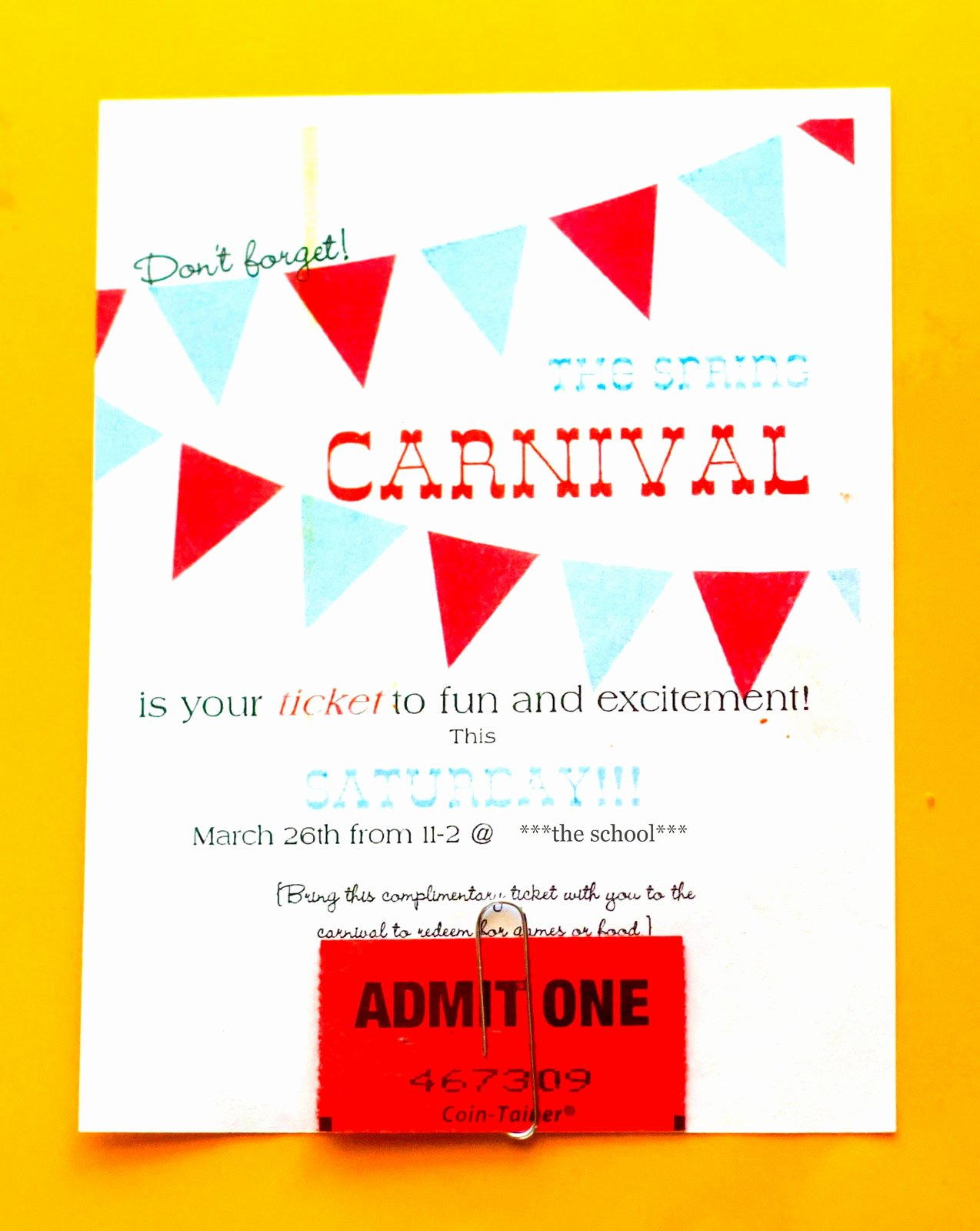 Carnival Ticket Template Elegant Carnival Advertising and Other Craziness My Insanity