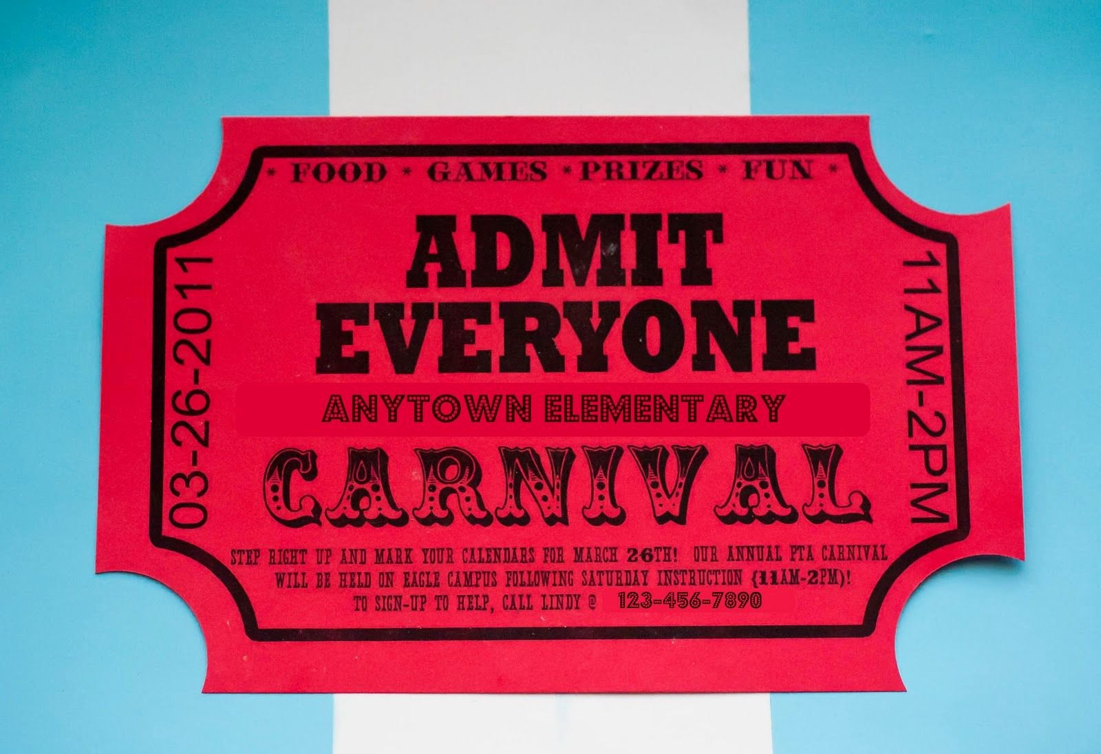 Carnival Ticket Template Elegant Carnival Advertising and Other Craziness