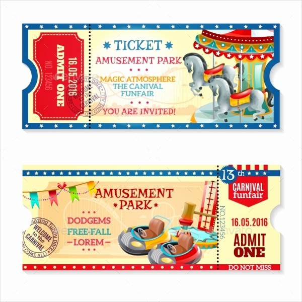 Carnival Ticket Template Fresh 15 Carnival Ticket Templates Free Psd Ai Vector Eps