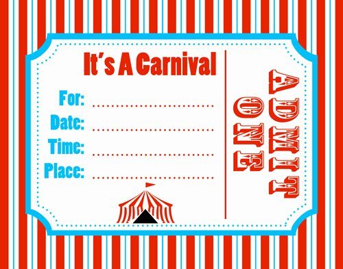Carnival Ticket Template Luxury Free Carnival Ticket Template Download Free Clip Art