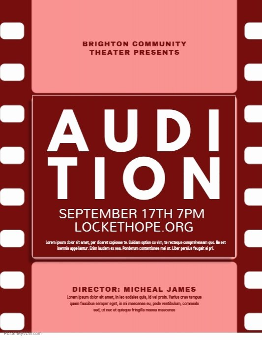 Casting Call Flyer Template Awesome Audition Template