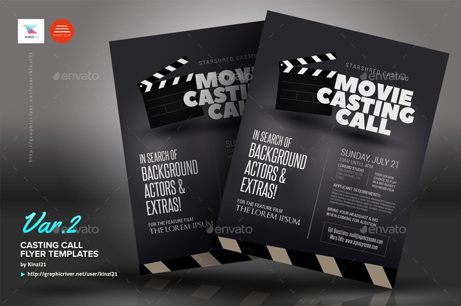 Casting Call Flyer Template Beautiful Casting Call Flyer Templates by Kinzi21
