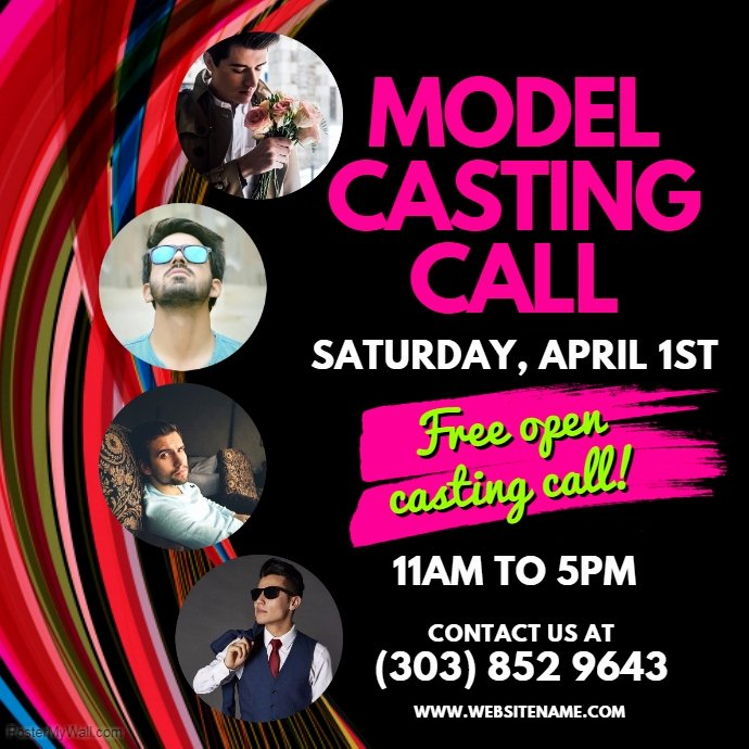 Casting Call Flyer Template Elegant Model Casting Call Template