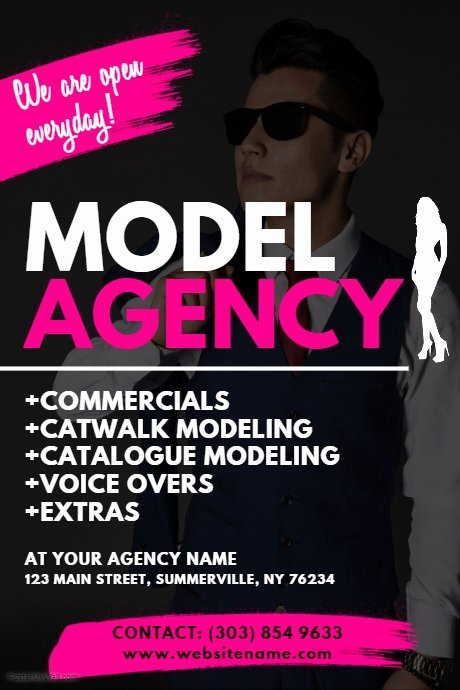 Casting Call Flyer Template Lovely Model Agency Flyer Template