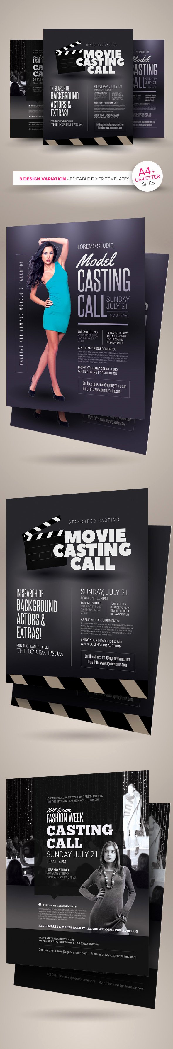Casting Call Flyer Template Luxury Casting Call Flyer Templates On Behance