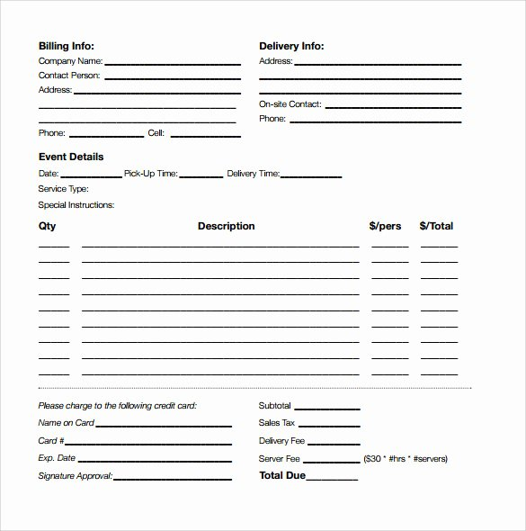 Catering Estimate Template Lovely 6 Catering Proposal Samples