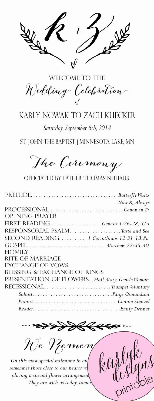Catholic Wedding Ceremony Program Templates Elegant Best 25 Wedding Ceremony Program Template Ideas On