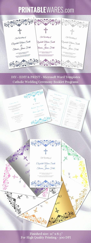 Catholic Wedding Ceremony Program Templates Elegant Pinterest • the World's Catalog Of Ideas