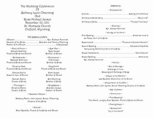 Catholic Wedding Ceremony Program Templates Fresh Creative Wedding Programs