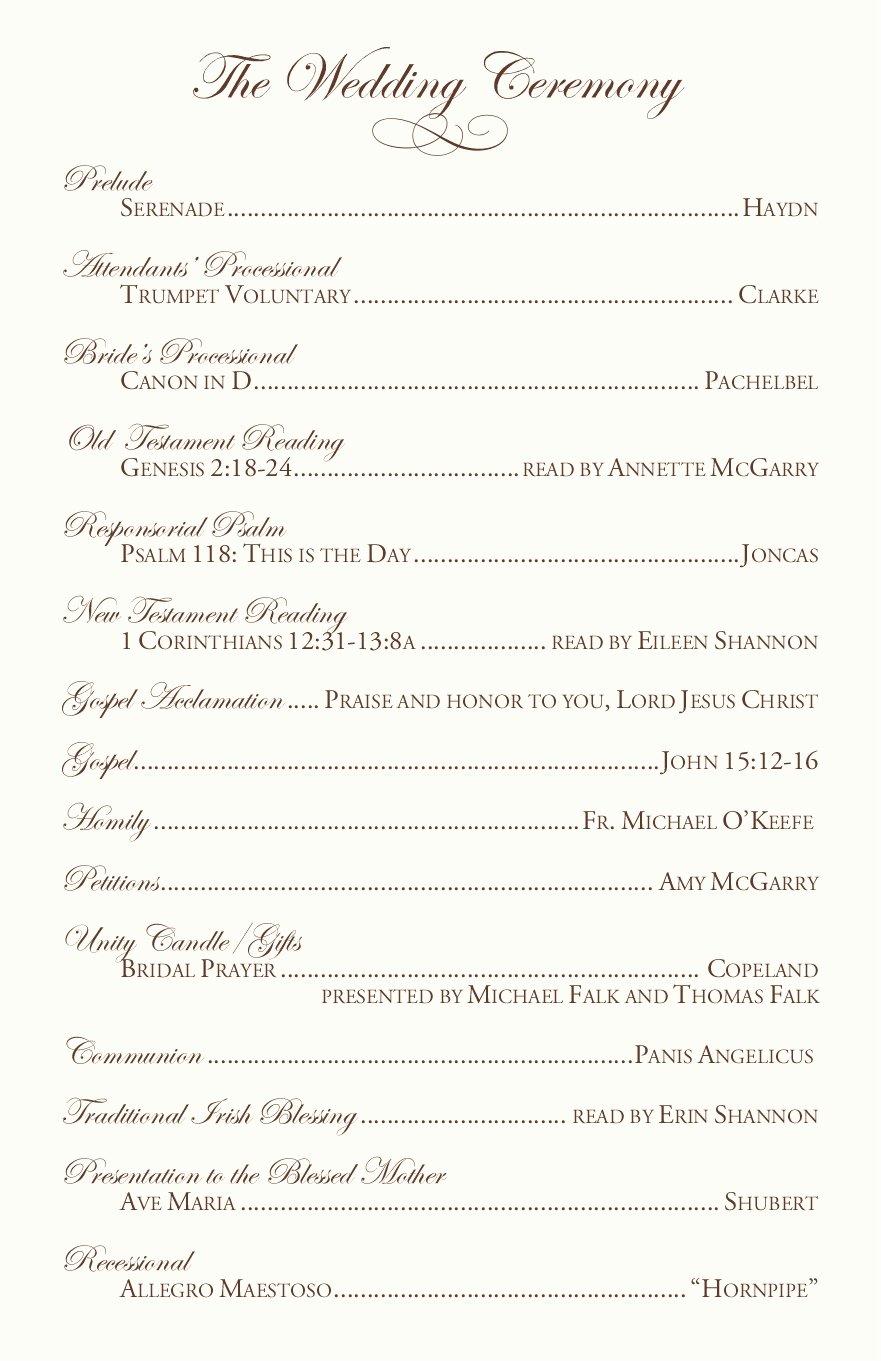 Catholic Wedding Ceremony Program Templates Lovely Clarnette S Blog Wedding Reception Table Ideas the Main