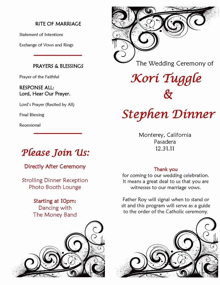 Catholic Wedding Ceremony Program Templates New 17 Best Ideas About Wedding Program Samples On Pinterest