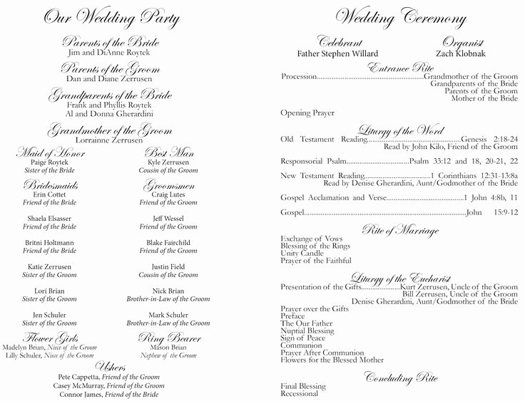 Catholic Wedding Program Template without Mass Elegant Best 25 Wedding Church Programs Ideas On Pinterest