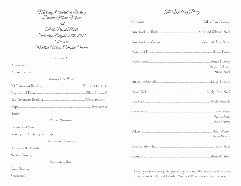 Catholic Wedding Program Templates Free Awesome Wedding Program Templates Wedding Programs Fast