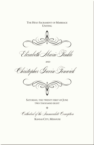 Catholic Wedding Program Templates Free Beautiful Catholic Wedding Program