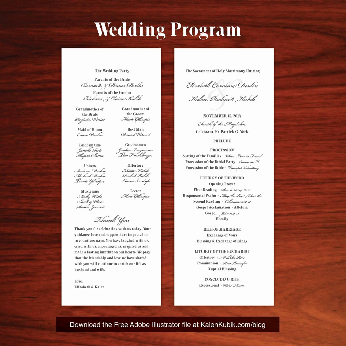Catholic Wedding Program Templates Free Elegant Free Diy Catholic Wedding Program Ai Template I M A