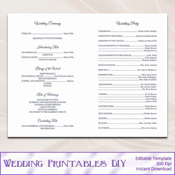 Catholic Wedding Program Templates Free Fresh Catholic Wedding Program Template Diy Navy Blue Cross