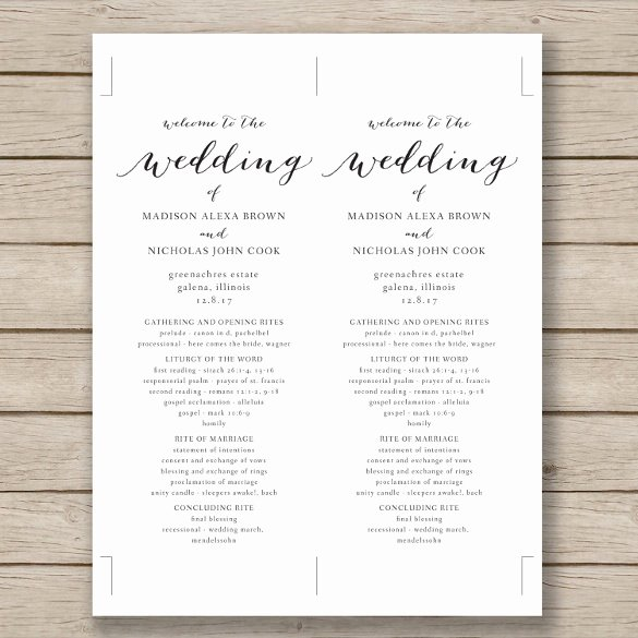 Catholic Wedding Program Templates Free Inspirational Wedding Program Template 41 Free Word Pdf Psd