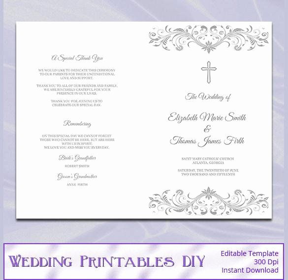 Catholic Wedding Program Templates Free Luxury 44 Wedding Program Templates Free Download