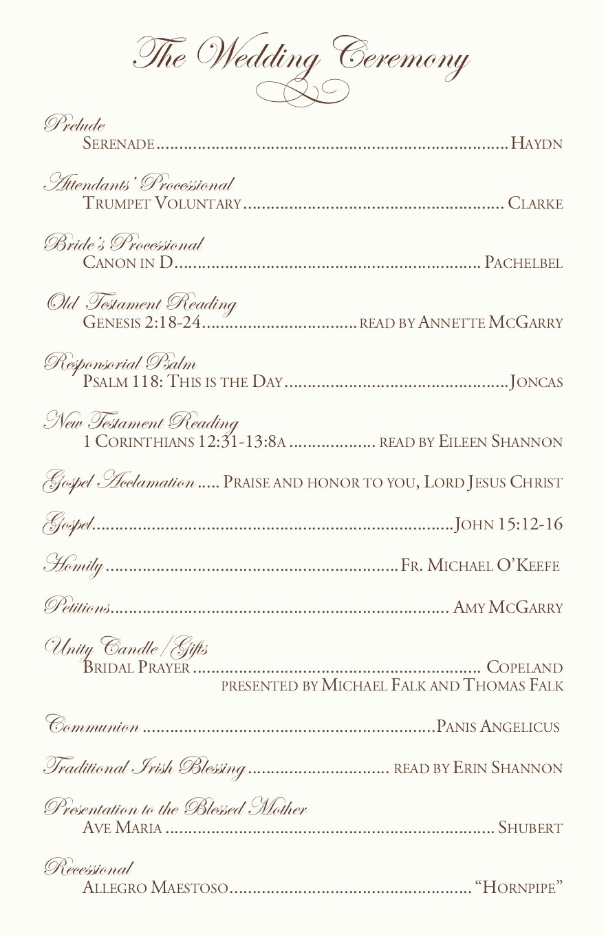 Catholic Wedding Program Templates Free Luxury Catholic Wedding Program Examples by Jrnwecordia On Deviantart