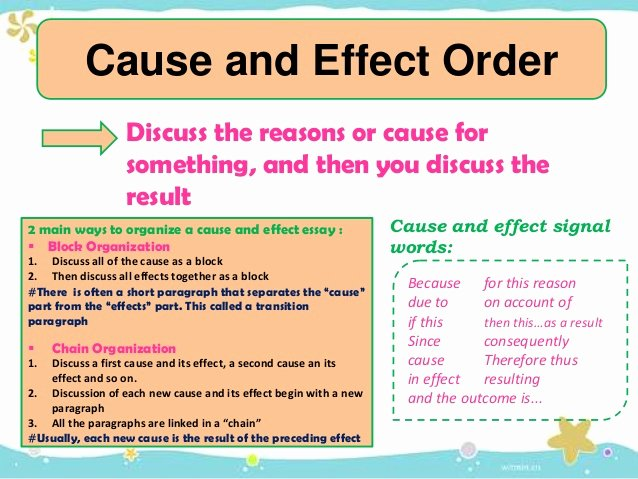 Cause and Effect Transitions Elegant Writing An Essay & Pattern Of Essay