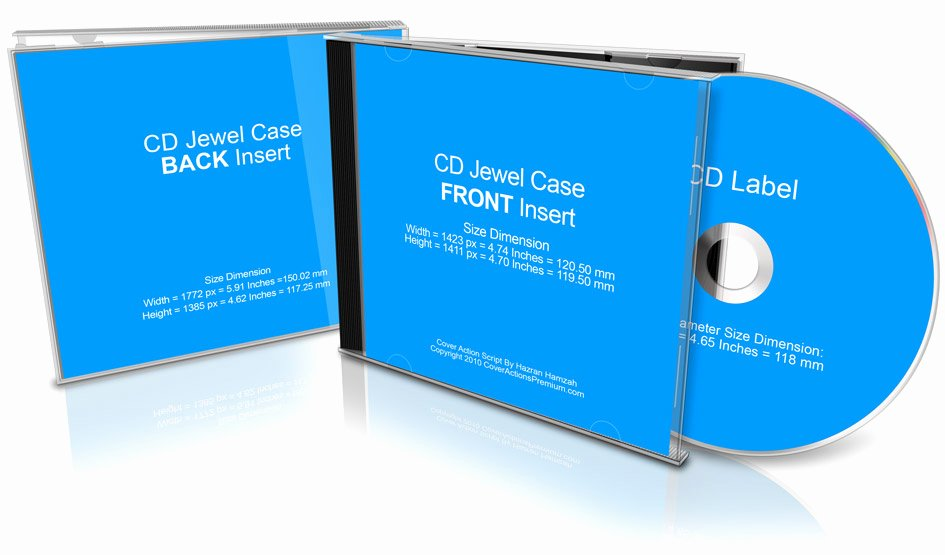 Cd Case Template Photoshop Fresh Cd Jewel Case Mockup Cover Actions Premium